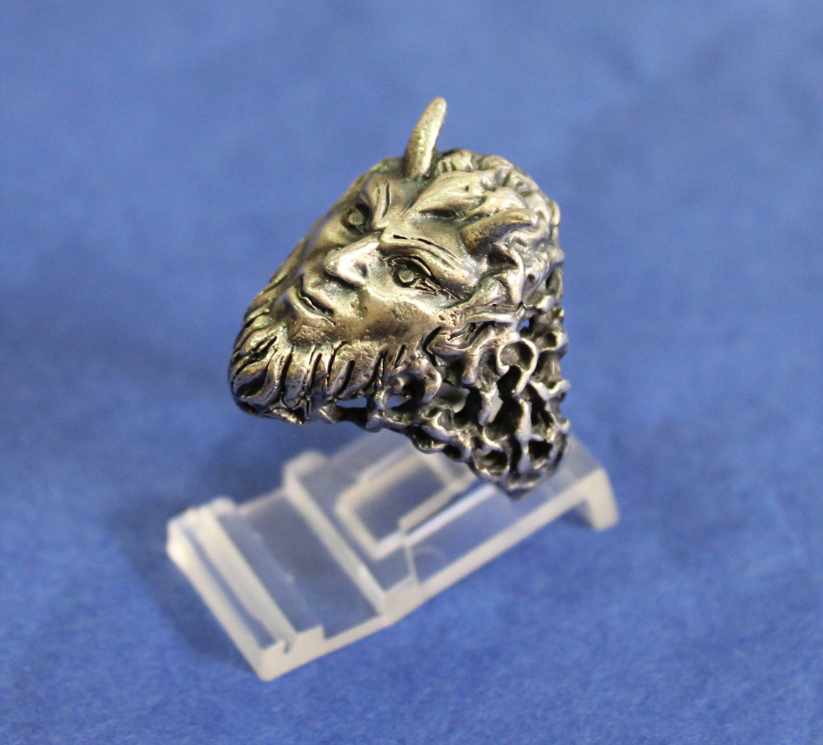 "Until Death, Inc. ""Minotaur "" Huge .925 Sterling Silver Biker Skull Ring.-UDINC0095"