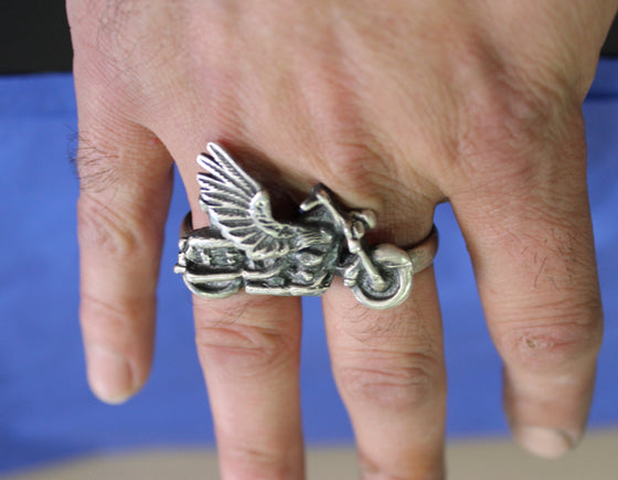 Two Finger Biker Ring