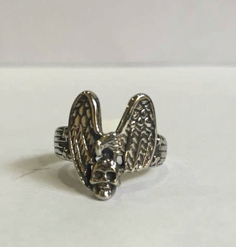 Ladies Eagle Skull Ring-UDINC0069