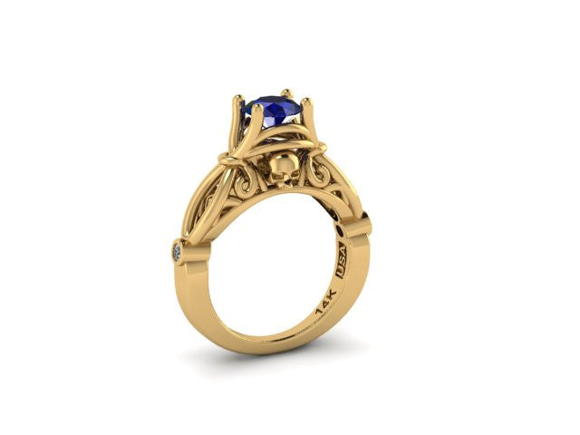 Secret Skull Engagement Ring-UDINC0425
