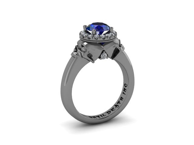Secret Skull Engagement Ring-UDINC0334