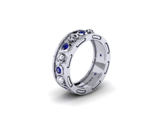 Bezel Skull Eternity Band-UDINC0400