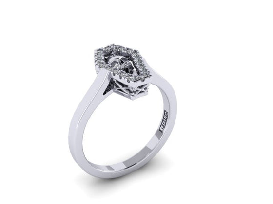 Diamond Coffin Ring-UDINC0521