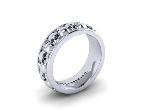 Mens Skull Wedding Bands Until Death Inc