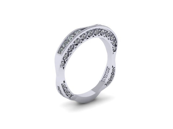 Diamond Contour Wedding Band ONLY-UDINC0323 WB