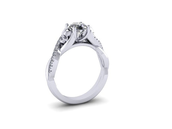 Secret Skull Engagement Ring-UDINC0568