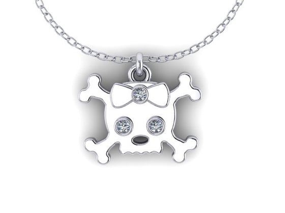 Skull &Cross Bow Pendant STERLING SILVER- UDINC0542