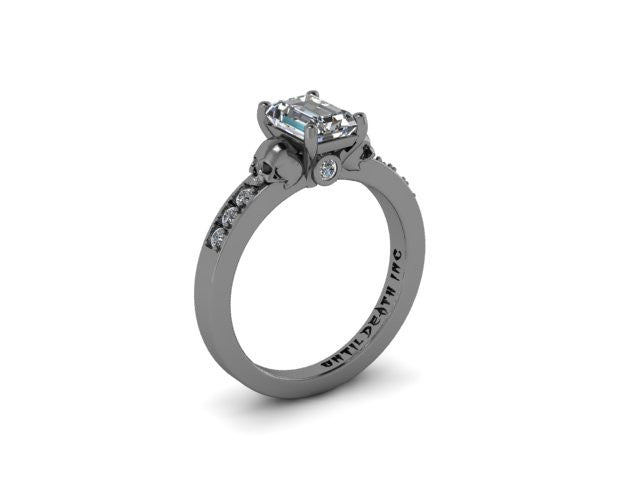 Secret Skull Engagement Ring-UDINC0341
