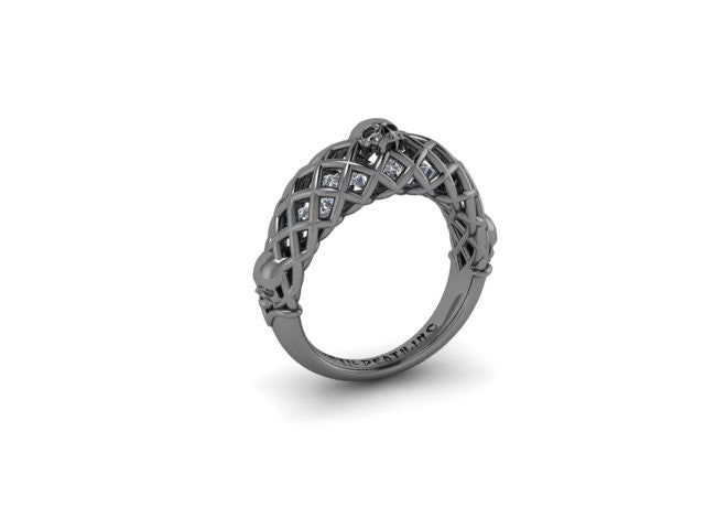 Secret Skull Engagement Ring-UDINC0396