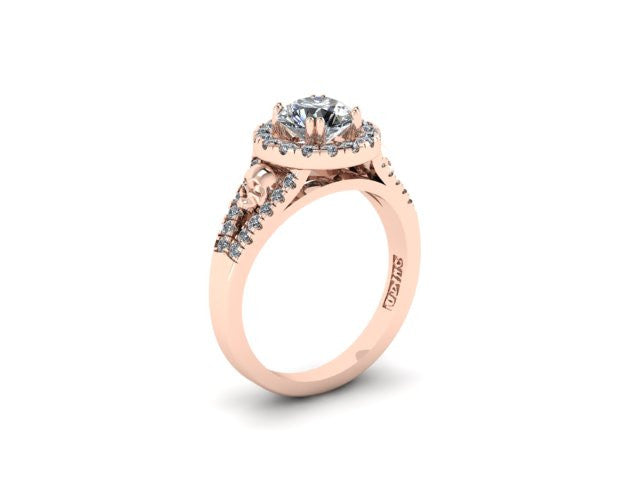 Secret Skull Engagement Ring-UDINC0497