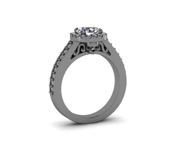 Secret Skull Engagement Ring-UDINC0536