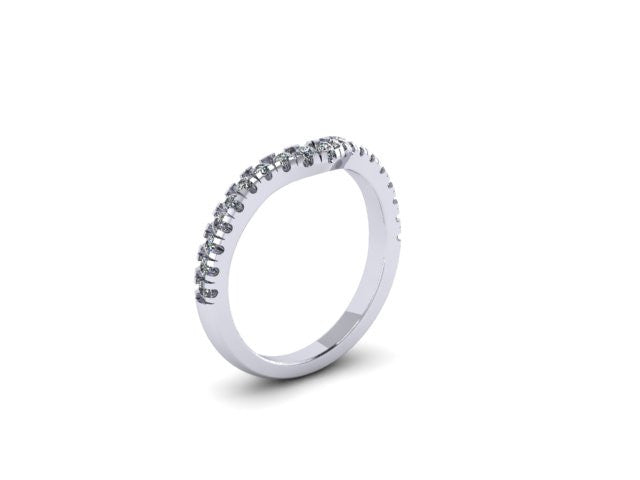 Diamond Contour Wedding Band ONLY-UDINC0537 WB