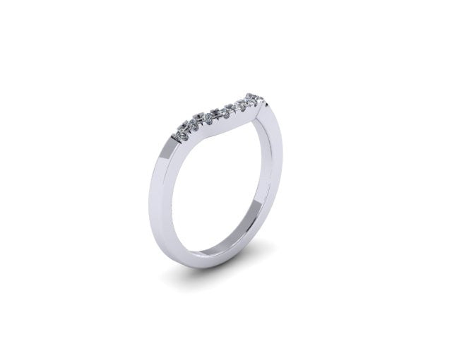 Contour Wedding Band-UDINC0504WB