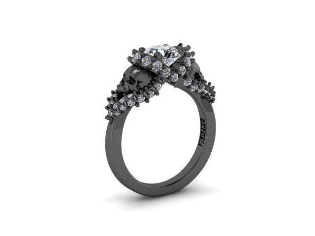 Secret Skull Engagement Ring-UDINC0326