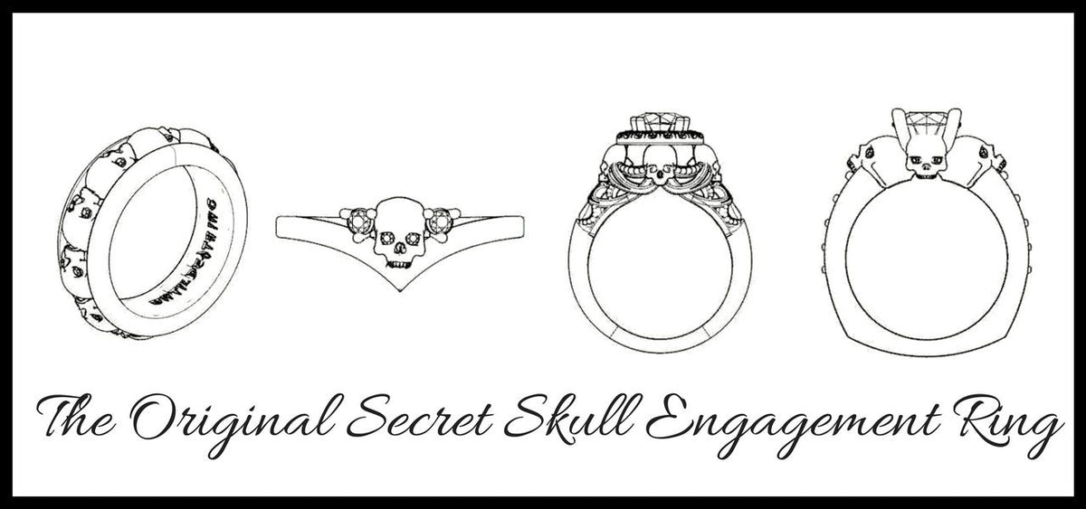 Until Death Inc Skull Engagement Rings and Jewelry