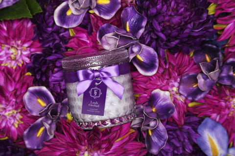 Lush Orchid - Infinity Collection Jewel Candle with Swarovski Crystals