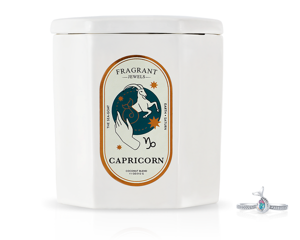 Capricorn, The Goat - Jewel Candle