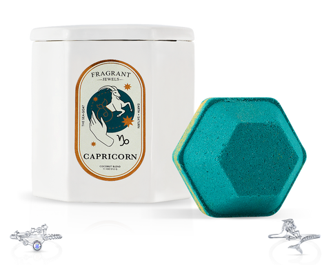 Capricorn, The Goat - Bath Bomb and Candle Set - Inner Circle
