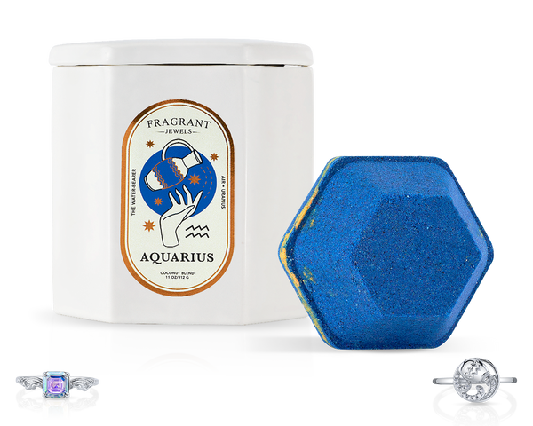 Aquarius, The Water Bearer - Bath Bomb and Candle Set - Inner Circle