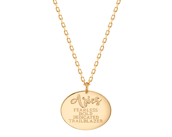 Gold Aries Astral Necklace