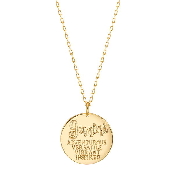 Gold Gemini Astral Necklace