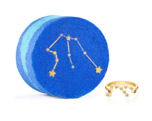 Aquarius Astral Bath Bomb Ring