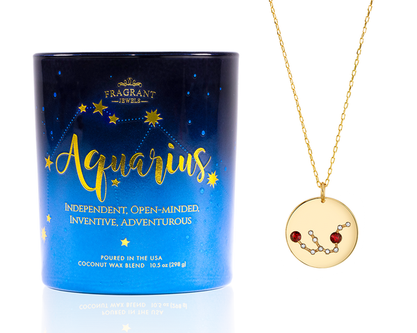 Aquarius Astral Candle with Necklace