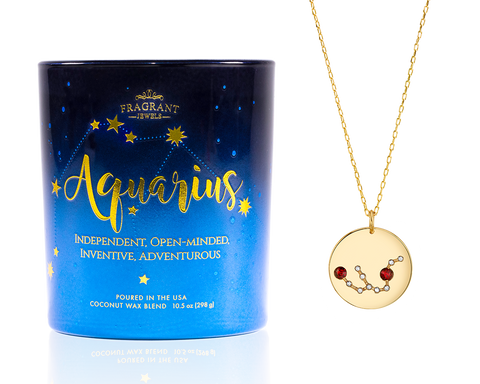 Aquarius - Zodiac Collection - Jewel Candle