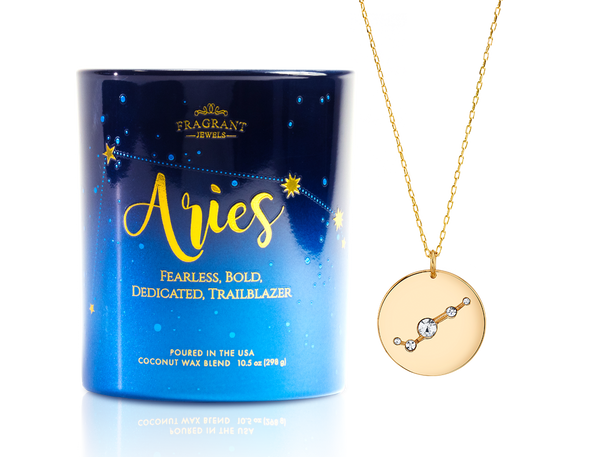 Aries Astral Necklace Candle