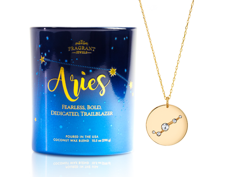 Aries - Zodiac Collection - Jewel Candle
