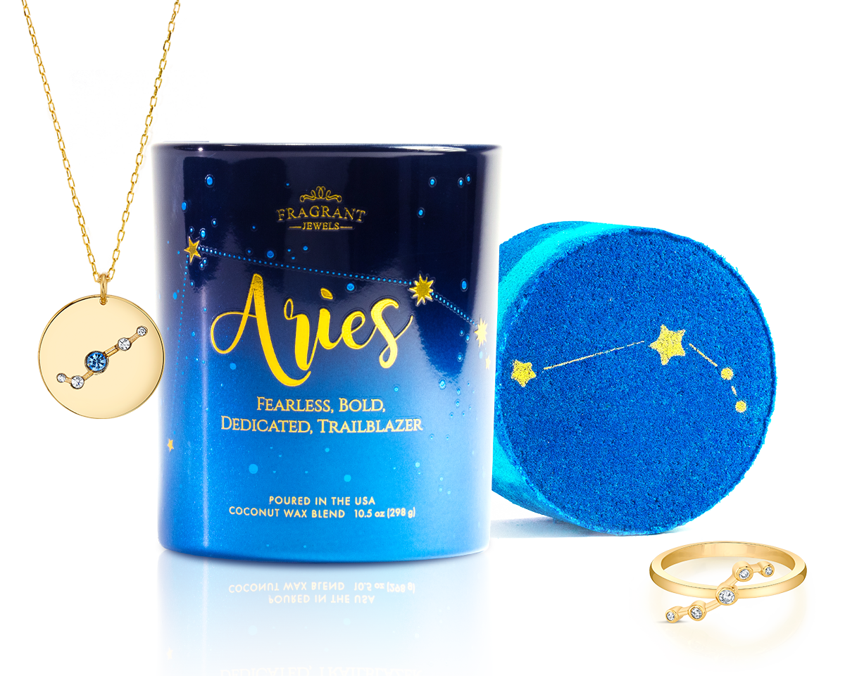 Aries - Zodiac Collection - Candle and Bath Bomb Set
