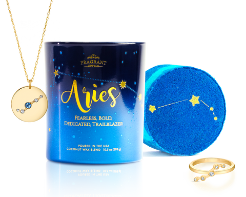 Aries - Zodiac Collection - Candle and Bath Bomb Set - Inner Circle