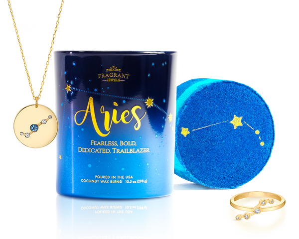 Aries Astral Ring Bath Bomb and Candle Necklace
