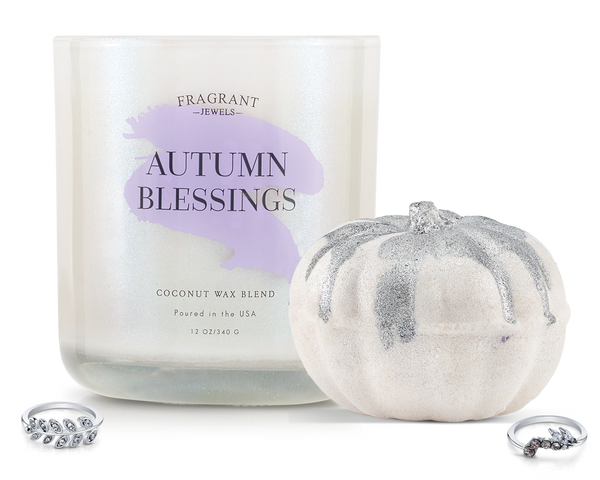 Autumn Blessings - Candle and Bath Bomb Set