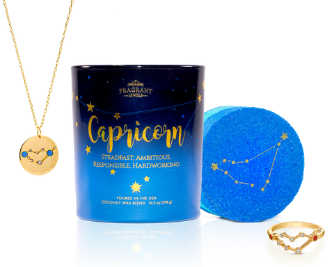 Capricorn - Zodiac Collection - Candle and Bath Bomb Set