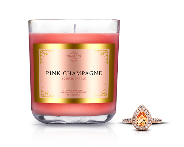 Champagne Candle with Ring