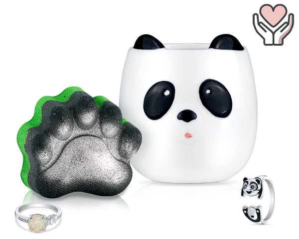 Panda-monium - Candle and Bath Bomb Set