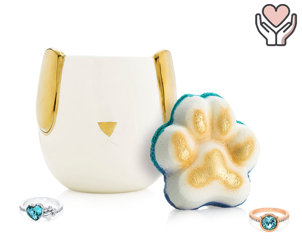 Pawsome - For the Love of Pets Collection - Candle and Bath Bomb Set