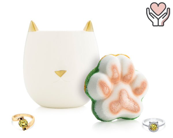 Purrfect - For the Love of Pets Collection - Candle and Bath Bomb Set