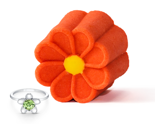 Daisies Bubble Bar with Ring