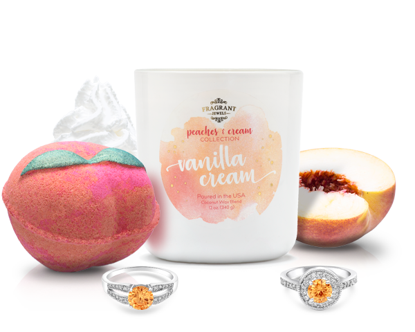 Peaches and Cream - Candle and Bath Bomb Gift Set - Inner Circle