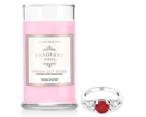 Fresh Cut Rose - Jewel Candle