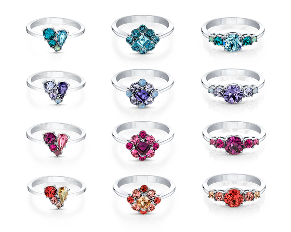 Swarovski Crystals Ring Cluster of Joy Collection