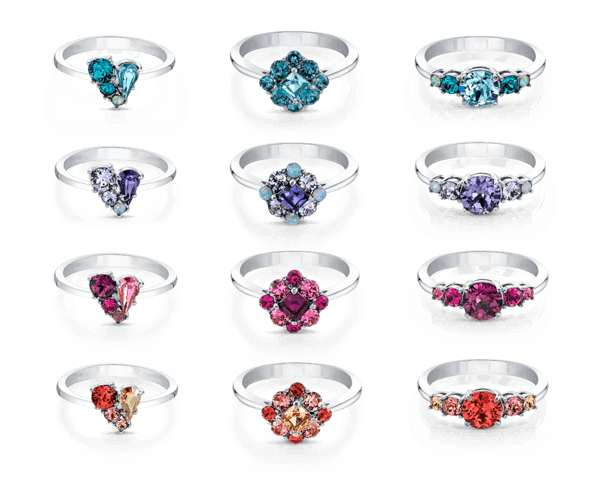 Choose Joy Swarovski Crystals Ring Collection