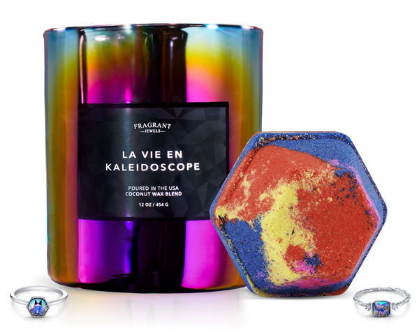 La Vie en Kaleidoscope - Candle and Bath Bomb Set