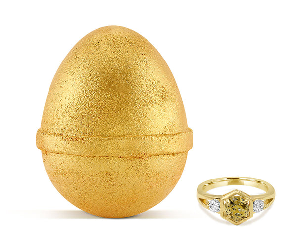 Golden Egg Bath Bomb and Ring