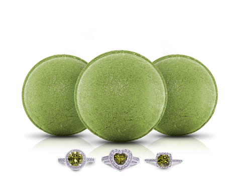August Birthstone: Peridot Bath Bomb Trio