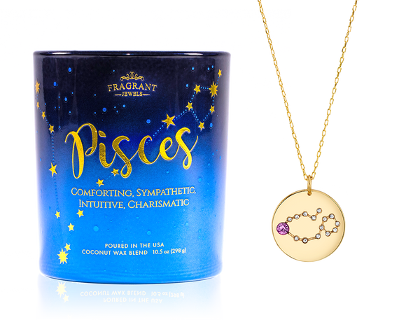 Pisces Necklace Candle