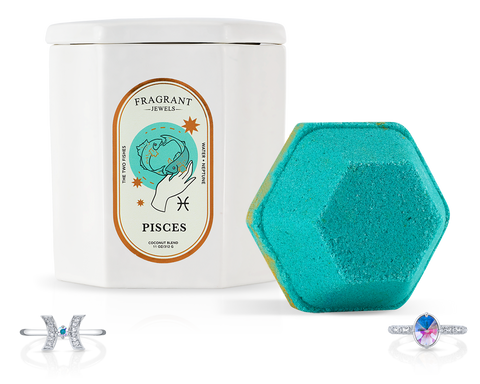 Pisces, The Fish - Bath Bomb and Candle Set - Inner Circle