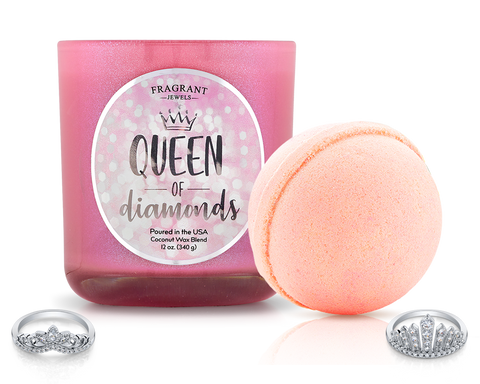 Queen of Diamonds - Candle and Bath Bomb Set - Inner Circle